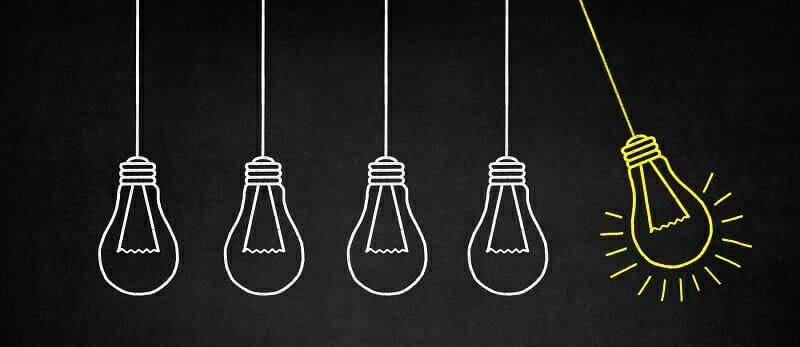 Illustration of five lightbulbs