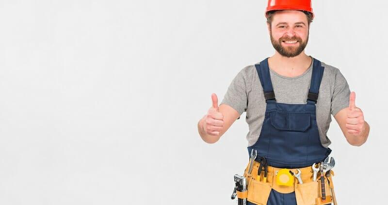 handyman giving two thumbs up