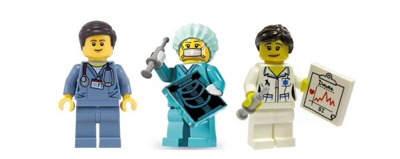lego characters of medial professionals